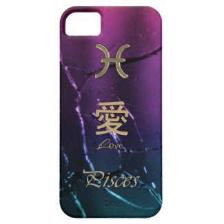 Gold Pisces Astrology Zodiac Chinese Love Symbols iPhone 5 Cover