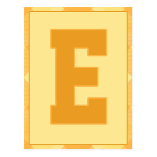 """Gold Plaid Letter """"E"""" Typography Banner Card"""