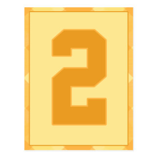 Gold Plaid Number 2 Typography Banner Card