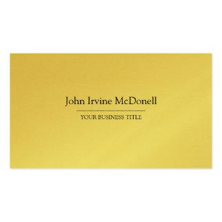 Gold Plain & Simple Luxurious Business Card