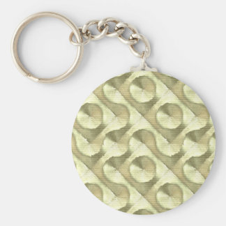 Gold Plaster and Cardboard Labyrinth Keychain