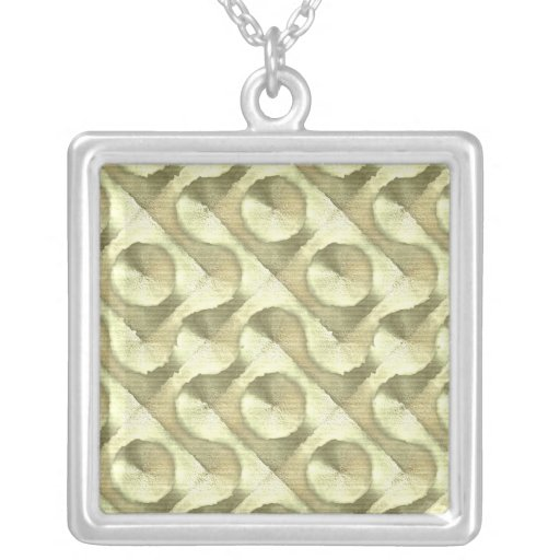Gold Plaster and Cardboard Labyrinth Jewelry