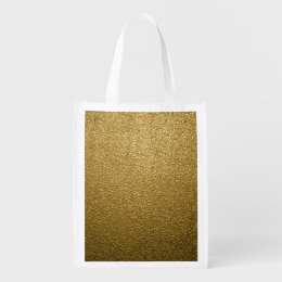 GOLD PLASTIC GROCERY BAG