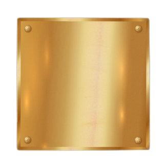 Gold plate,golden,shining,,elegant,chic,elegant, maple wood coaster