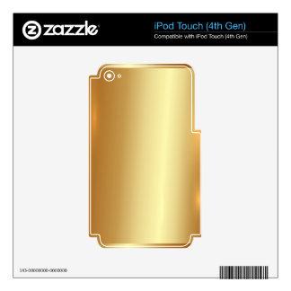 Gold plate,golden,shining,,elegant,chic,elegant, iPod touch 4G skins