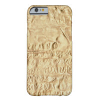 Gold plate with 'brief' Etruscan inscription, from iPhone 6 Case