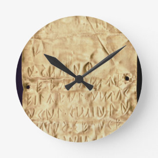 Gold plate with 'brief' Etruscan inscription, from Round Wall Clock