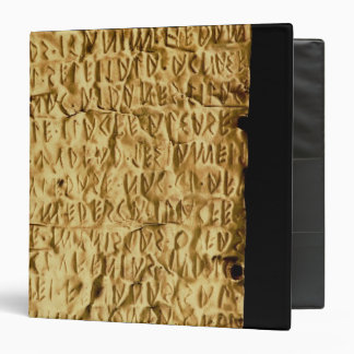 Gold plate with 'lengthy' Etruscan inscription fro 3 Ring Binder