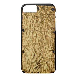 Gold plate with 'lengthy' Etruscan inscription fro iPhone 8/7 Case