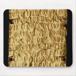 Gold plate with 'lengthy' Etruscan inscription fro Mouse Pad