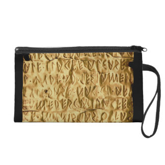 Gold plate with 'lengthy' Etruscan inscription fro Wristlet Purse