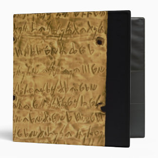 Gold plate with Phoenician inscription, from Santa 3 Ring Binder