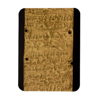 Gold plate with Phoenician inscription from Santa Rectangular Magnet