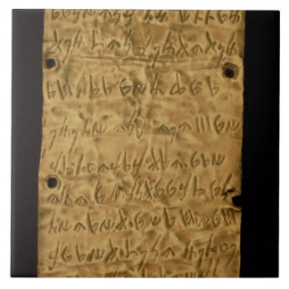 Gold plate with Phoenician inscription, from Santa Large Square Tile