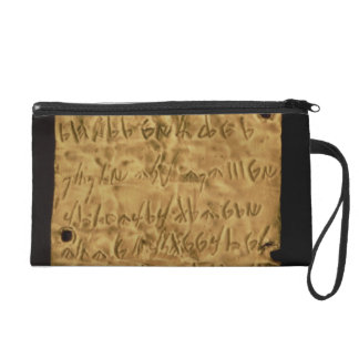 Gold plate with Phoenician inscription, from Santa Wristlet Purse