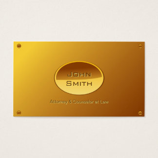 Gold Plated Attorney/Lawyer business card