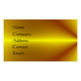 Gold Plated Business Card Template