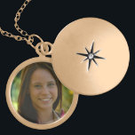 """Gold Plated Customizable Medium Locket<br><div class=""""desc"""">Customize this gold plated locket by uploading your own photo. This design is ideal for birthday gifts,  anniversary presents,  graduation keepsake gifts,  new baby arrival or just about any occasion.</div>"""