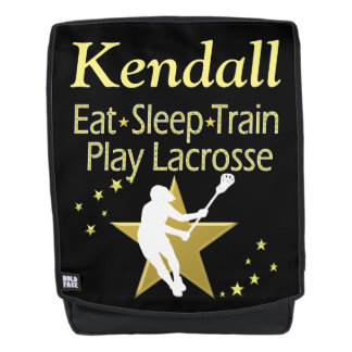 GOLD PLAY LACROSSE PERSONALIZED BACKPACK