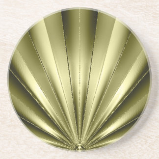 Gold Pleated Coaster