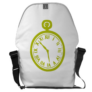 Gold Pocket Watch Courier Bags
