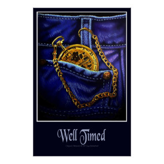 Gold Pocketwatch Poster