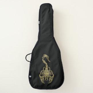 Gold poisonous scorpion very venomous insect guitar case