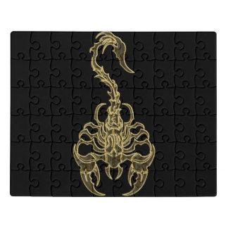 Gold poisonous scorpion very venomous insect jigsaw puzzle