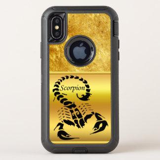 Gold poisonous scorpion very venomous insect OtterBox defender iPhone x case