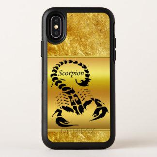 Gold poisonous scorpion very venomous insect OtterBox symmetry iPhone x case