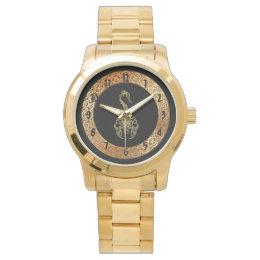 Gold poisonous scorpion very venomous insect wrist watch
