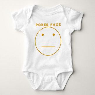 Gold Poker Face Baby Bodysuit