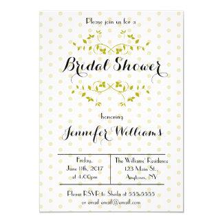 Gold Polka Dot Bridal Shower Invitations