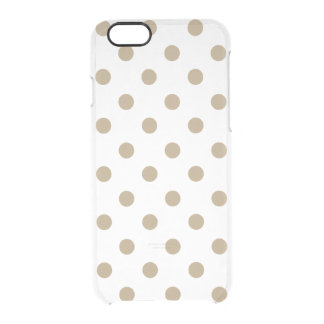 Gold Polka Dot Clear iPhone 6/6S Case