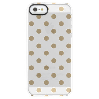 Gold Polka Dot Clear iPhone SE/5/5s Case
