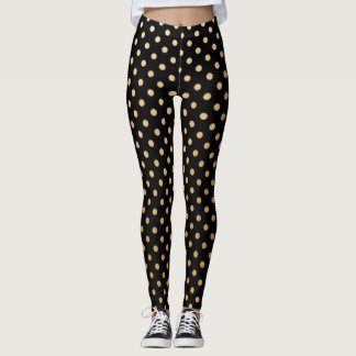 Gold Polka Dot leggings with customizable color!