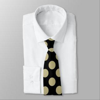 Gold Polka Dot Mens Tie