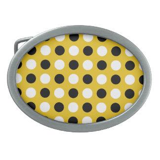 Gold Polka Dots Belt Buckle