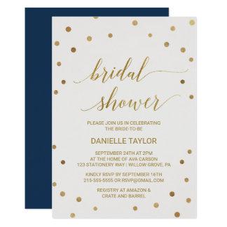 Gold Polka Dots Bridal Shower Card