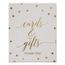 Gold Polka Dots Cards and Gifts Sign