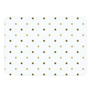 Gold Polka Dots Golden And White Modern Design Personalized Invites
