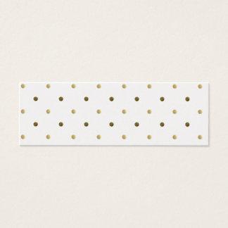 Gold Polka Dots Golden And White Modern Design Mini Business Card
