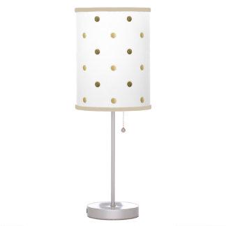 gold polka dots golden and white modern design table lamp. Black Bedroom Furniture Sets. Home Design Ideas