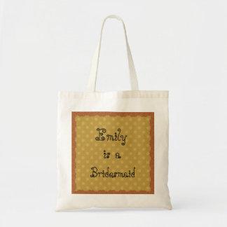 Gold Polka Dots Lace Bridesmaid  Bag V22