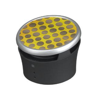 Gold Polka dots on Gold background Speaker