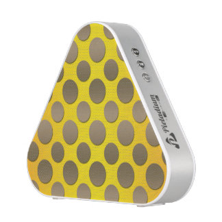 Gold Polka dots on Gold background Bluetooth Speaker