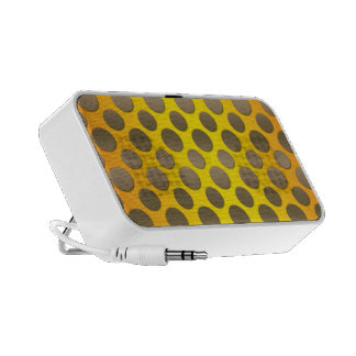 Gold Polka dots on Gold background Portable Speakers