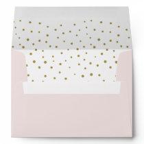 Gold Polka Dots Pattern Holiday Envelopes