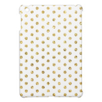 Gold Polka-Dots Pattern iPad Mini Cover