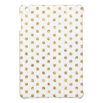 Gold Polka-Dots Pattern iPad Mini Covers